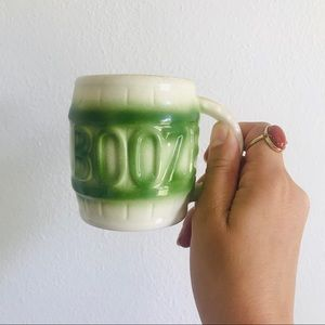 "Vintage 70s ""Booze"" coffee mug with hidden frog"